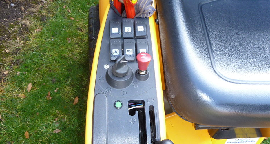 Eclipse Battery Voltage Monitor used in a lawnmower