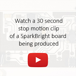Watch a 30 second stop motion clip of a SparkBright board being produced